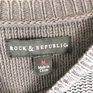 Rock & Republic Sweaters - Rock & Republic Silver Gray Sweater Long Sleeves M